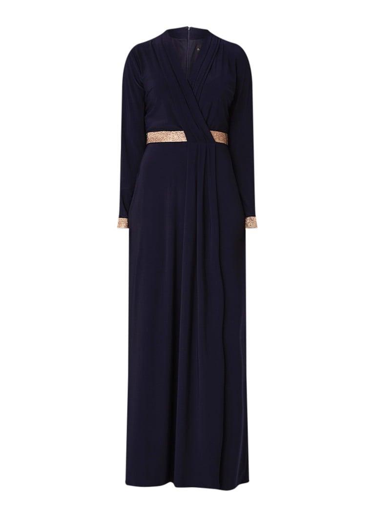 Phase Eight Julietta maxi-jurk van jersey met lurex donkerblauw