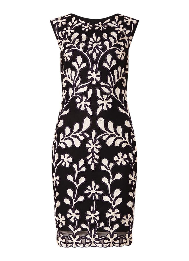 Phase Eight Emelia midi-jurk van mesh en tapework zwart