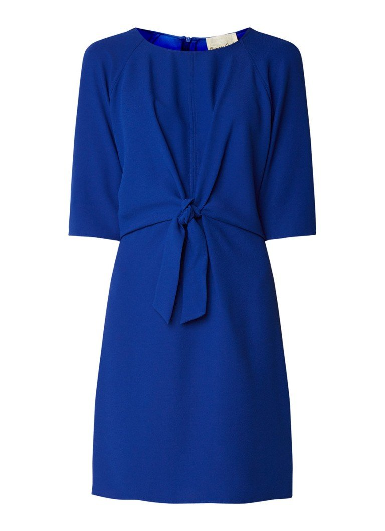 Phase Eight Christina tuniekjurk van crêpe met knoopdetail royalblauw