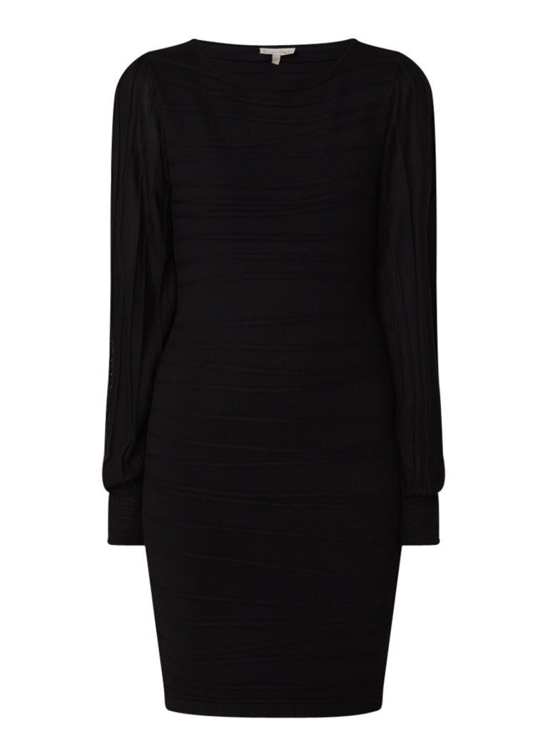 Phase Eight Benita fijngebreide midi-jurk zwart