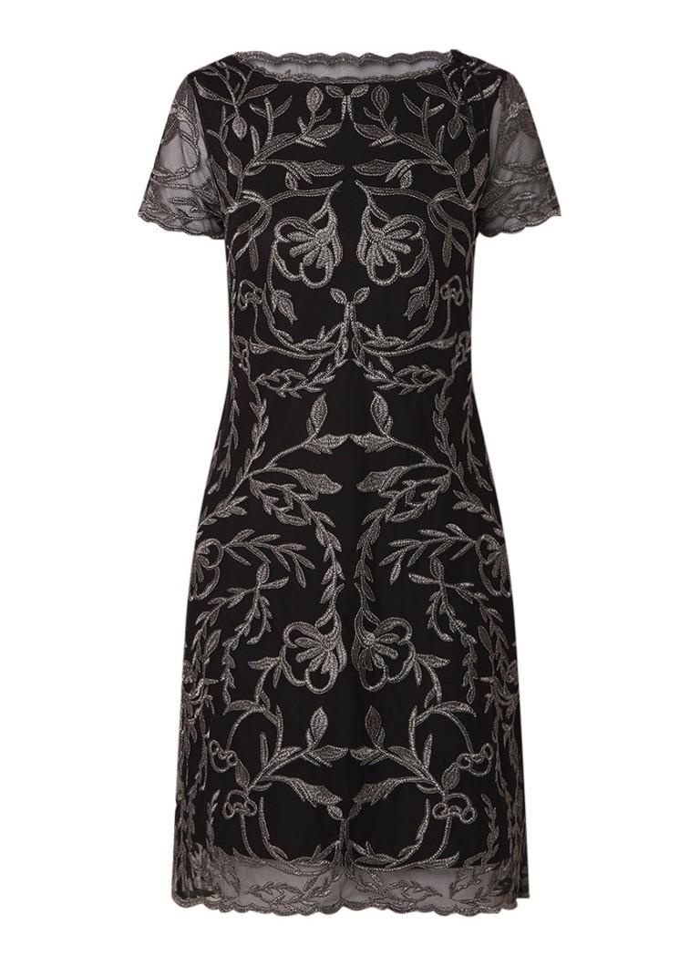 Phase Eight Alannah jurk van mesh met bloemborduring zwart