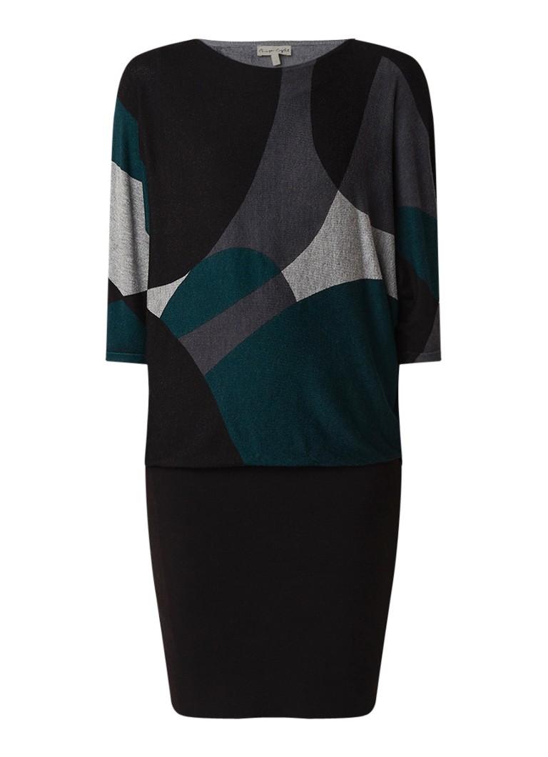Phase Eight Becca trui-jurk met dessin en vleermuismouw groen