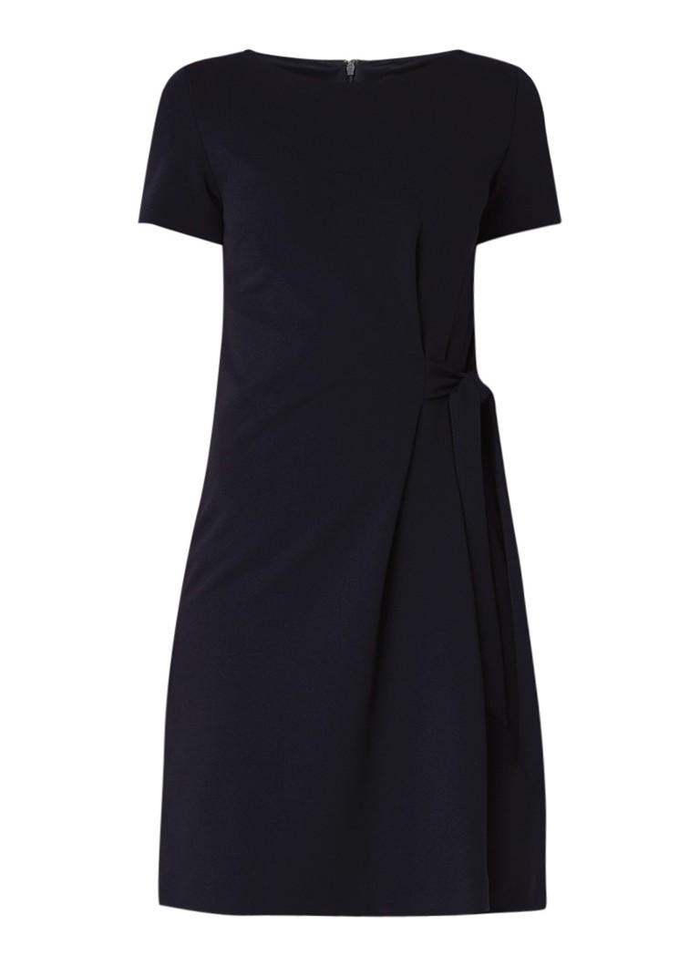 Phase Eight Thelma jurk van crêpe met strikdetail donkerblauw