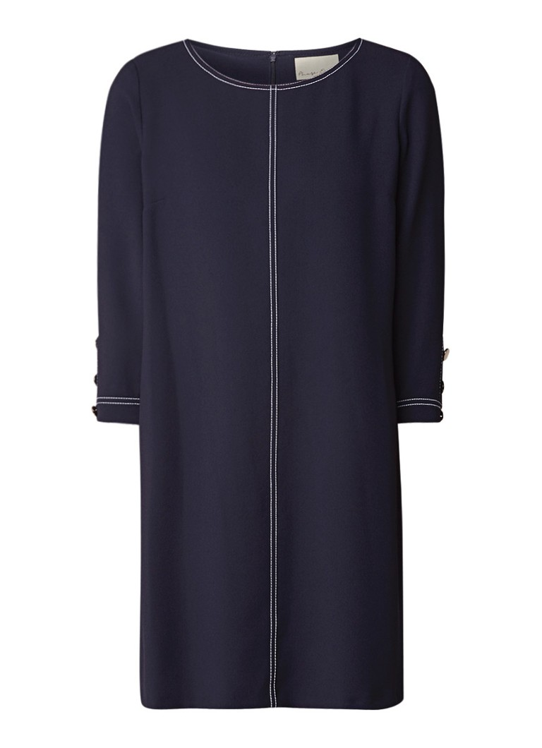 Phase Eight Jude loose fit mini-jurk met contraststiksels donkerblauw