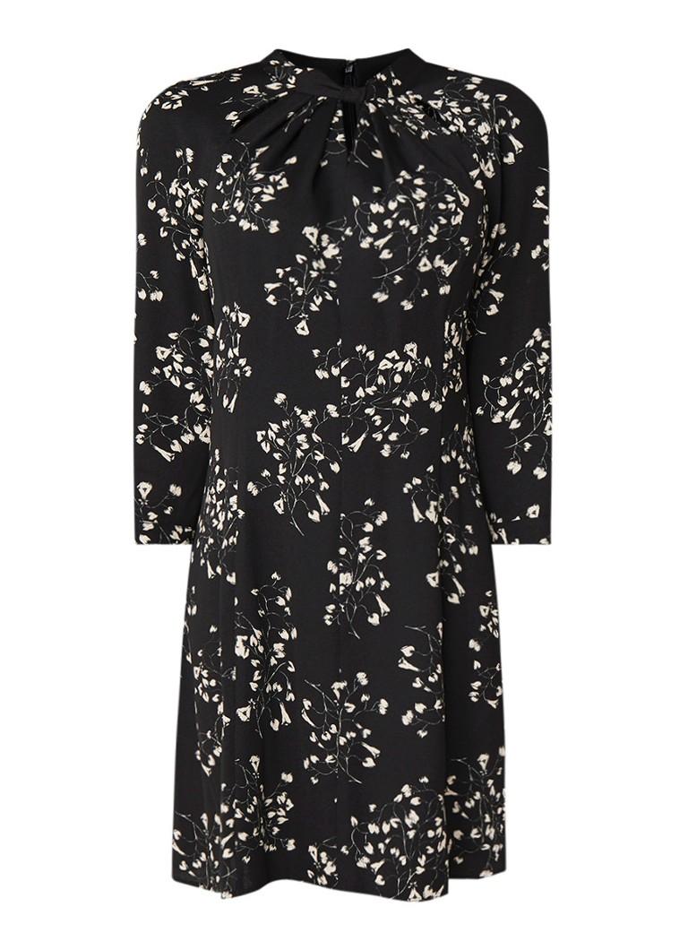 Phase Eight Carolina loose fit jurk van crêpe met bloemendessin zwart