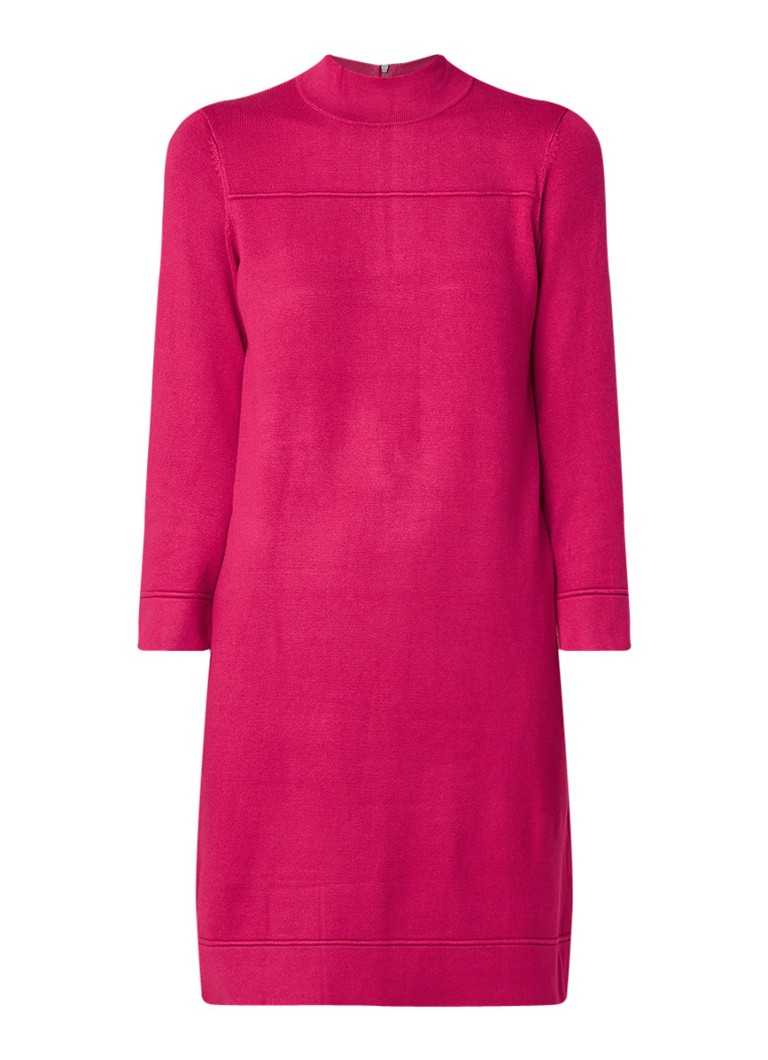 Phase Eight Tillie fijngebreide midi-jurk fuchsia