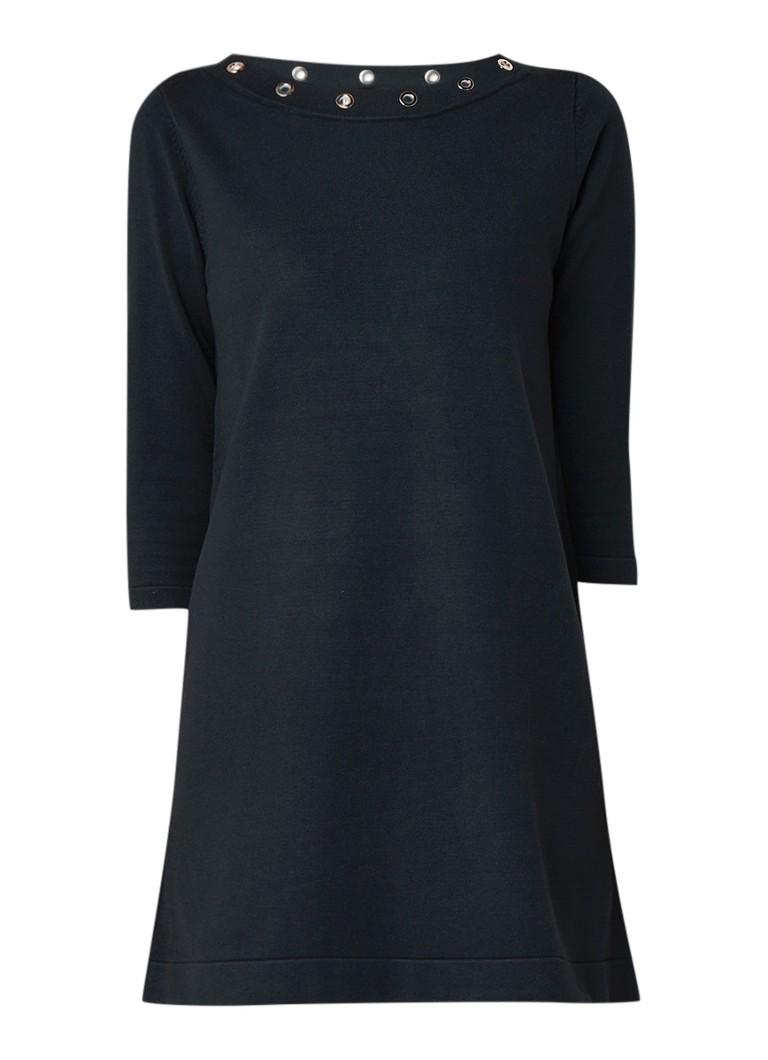 Phase Eight Laurel mini-jurk met eyelets donkergroen
