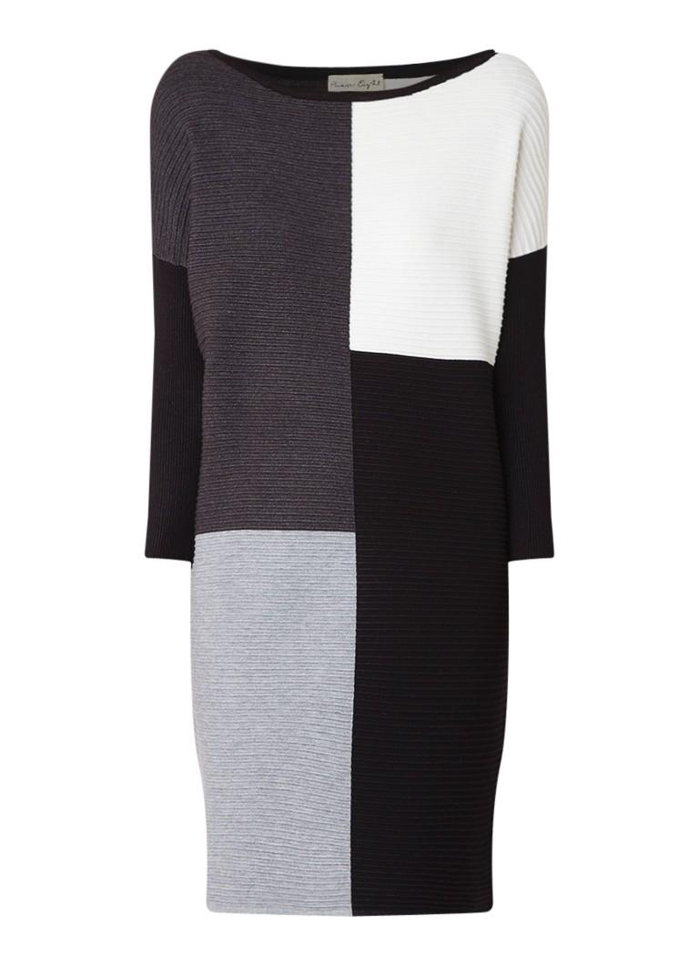Phase Eight Cher ribgebreide jurk met colour block zwart