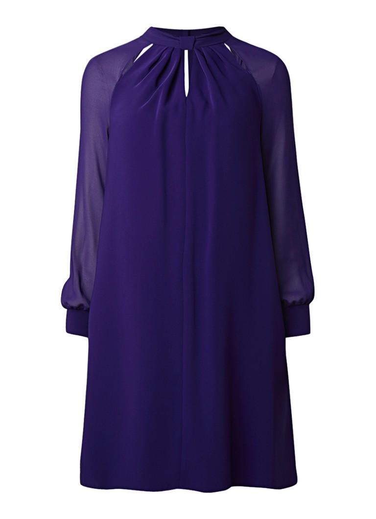 Phase Eight Carolina mini-jurk met semi-transparante mouwen paars