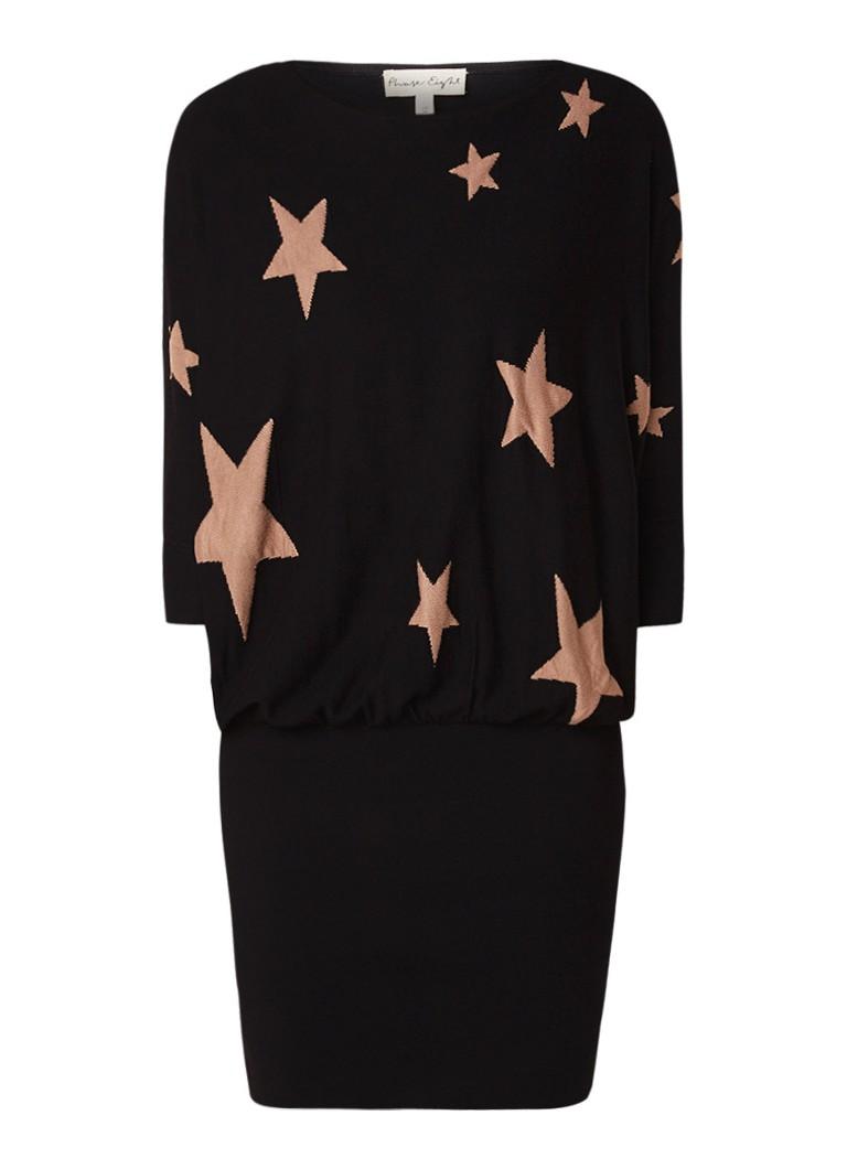 Phase Eight Becca fijngebreide jurk met sterrendessin zwart