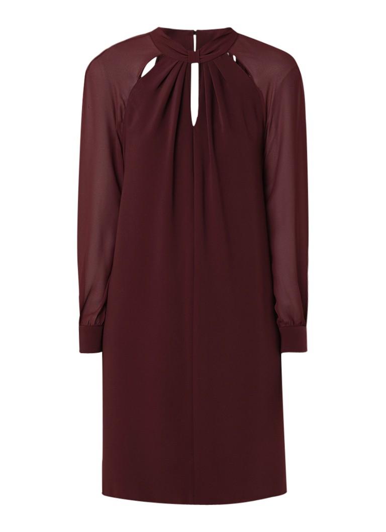 Phase Eight Carolina cold shoulder midi-jurk met keyhole bordeauxrood