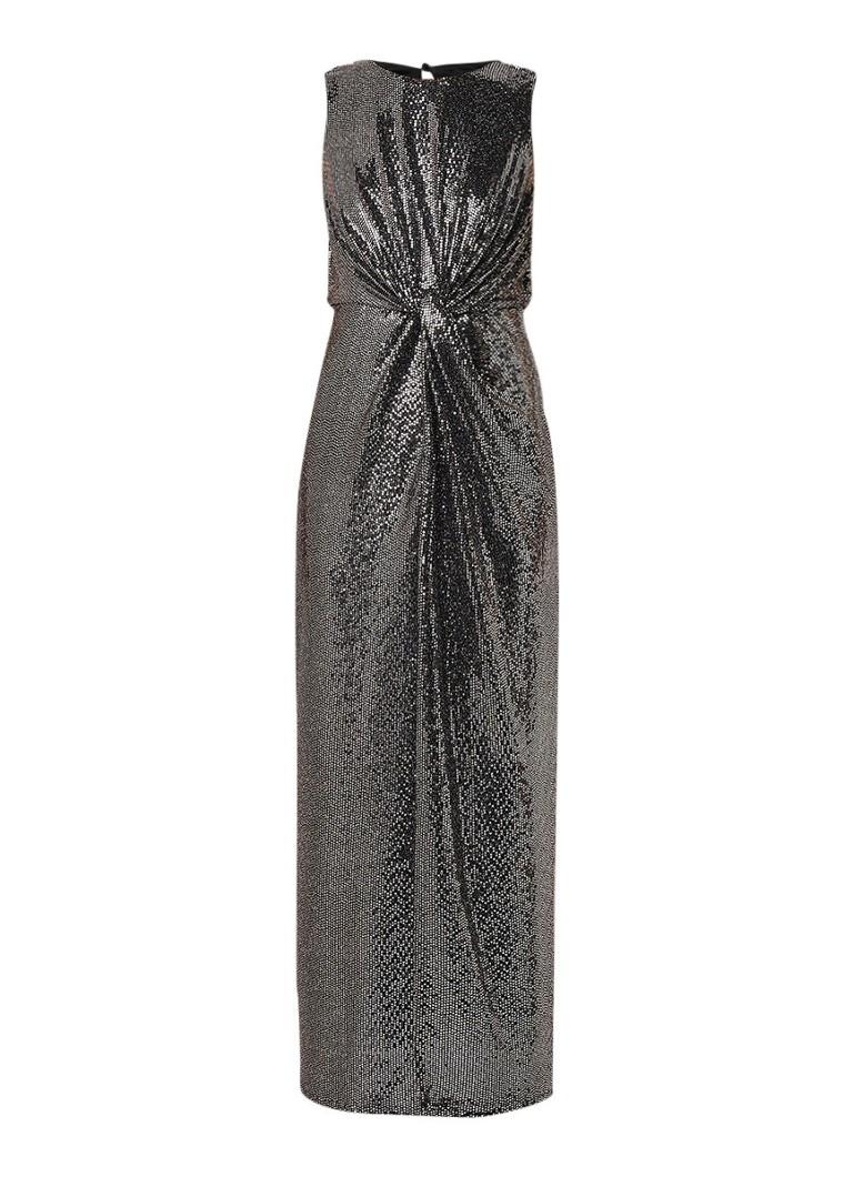 Phase Eight Dahlia mouwloze maxi-jurk met pailletten zilver