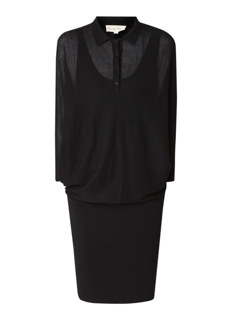 Phase Eight Becca trui-jurk met halve knoopsluiting zwart