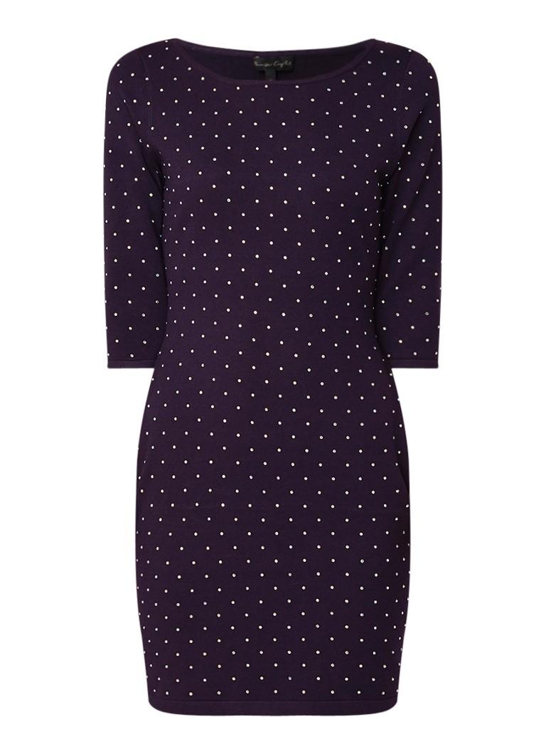 Phase Eight Helene mini-jurk met strass-decoratie aubergine