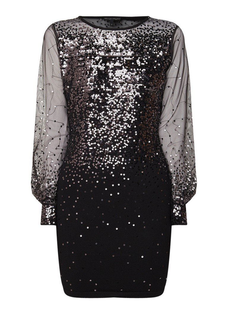 Phase Eight Matilda semi-transparante mini-jurk met pailletten zwart