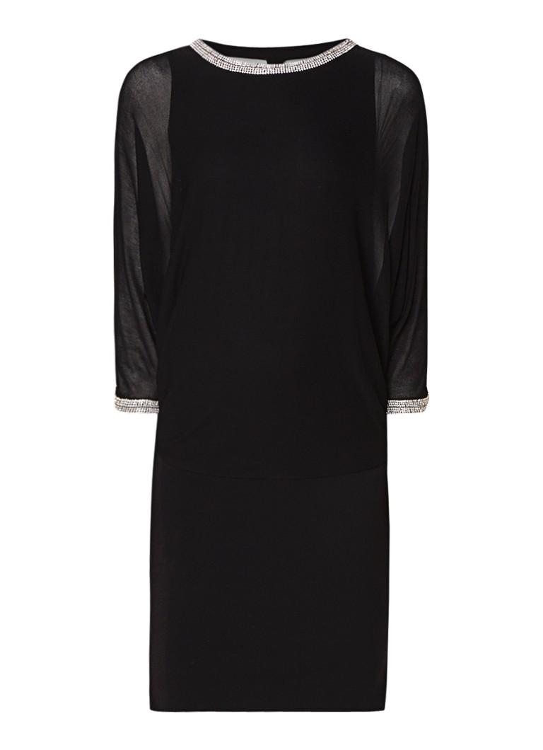 Phase Eight Becca semi-transparante mini-jurk met strass zwart
