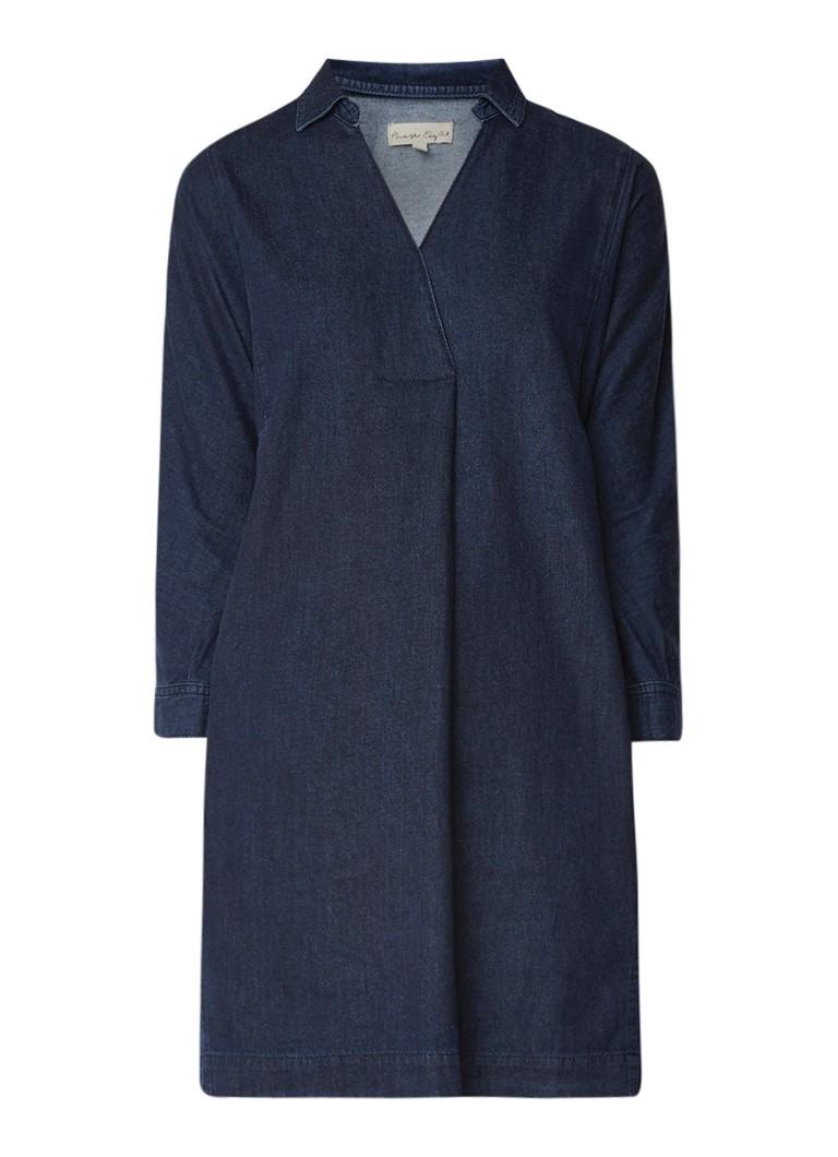 Phase Eight Kathy midi blousejurk van denim met steekzakken indigo