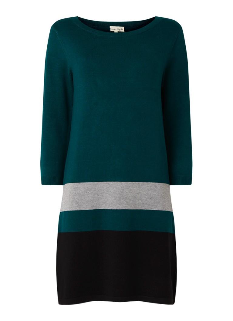 Phase Eight Celina fijngebreide trui-jurk met streepdessin petrol