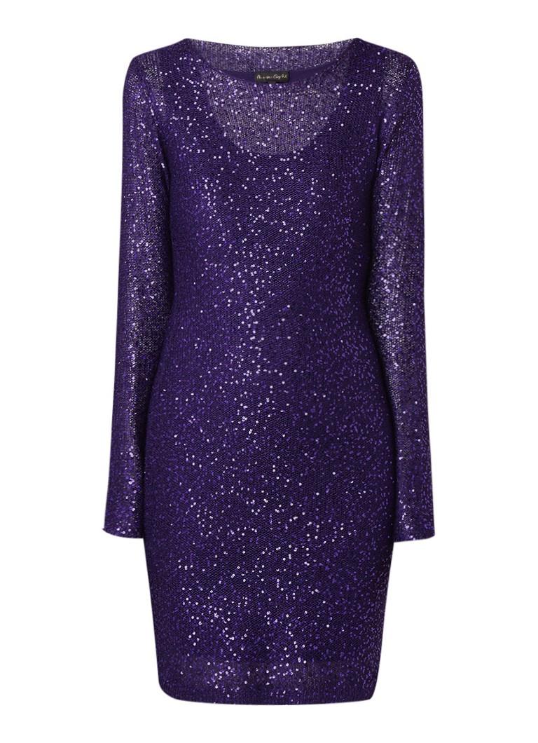 Phase Eight Juana trui-jurk met pailletten paars