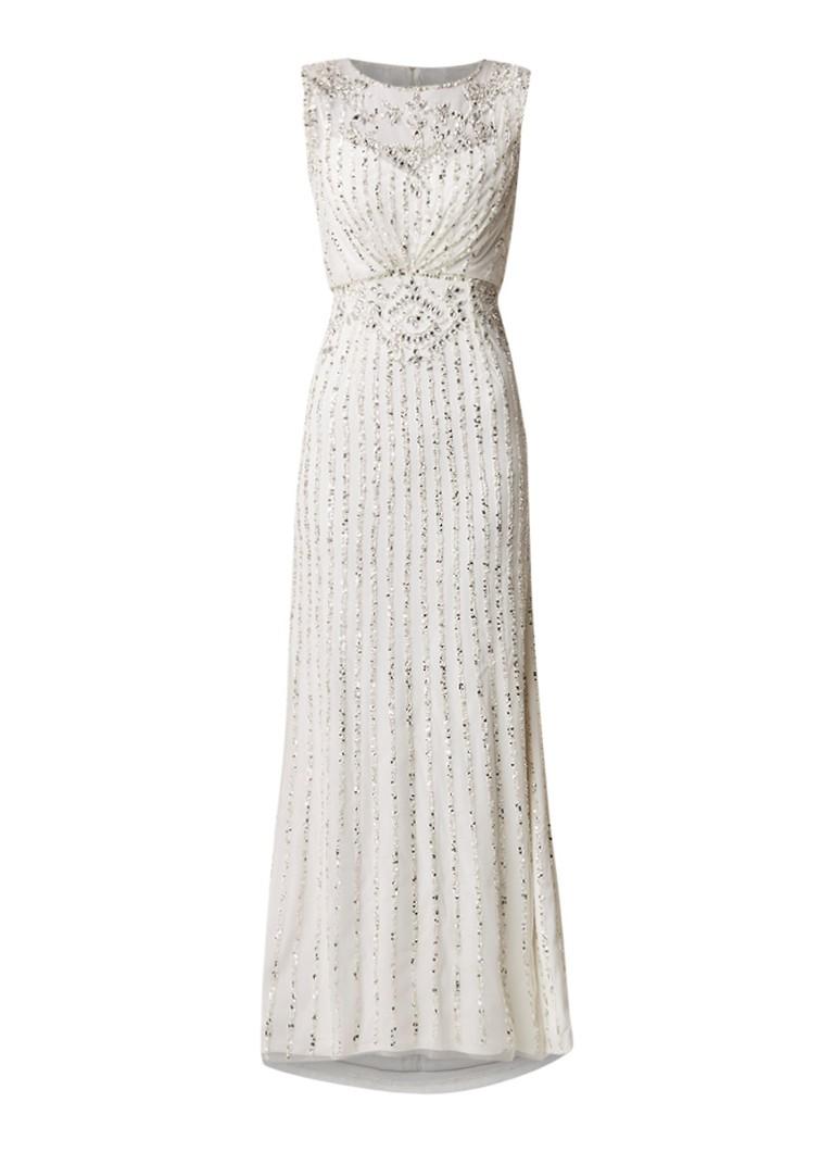 Phase Eight Milly trouwjurk met strass en kralendecoratie wit