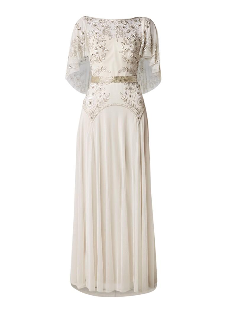 Phase Eight Louise trouwjurk met overlay van mesh en kralendecoratie kit