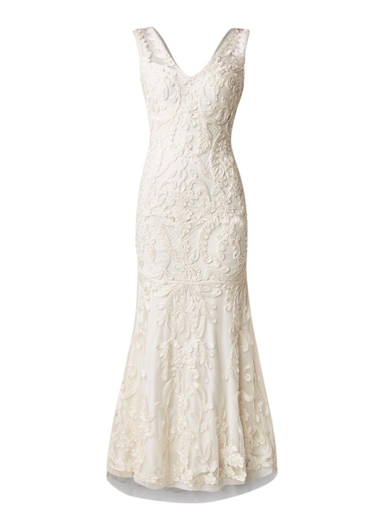 Phase Eight Valerie trouwjurk met tapework en kralendecoratie creme