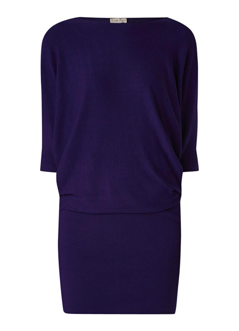 Phase Eight Becca fijngebreide jurk met vleermuismouw paars