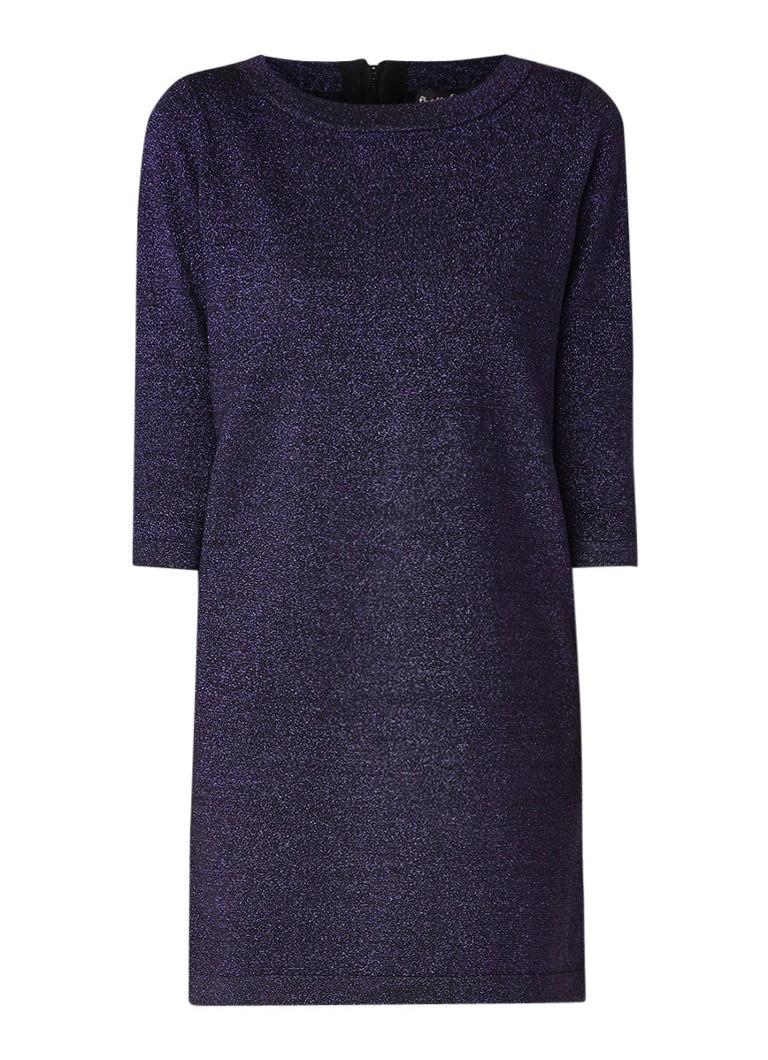 Phase Eight Sherri mini-jurk met lurex en driekwart mouw paars