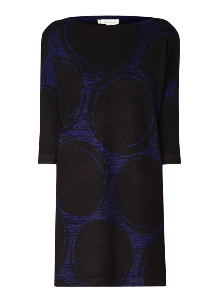 Phase Eight Sammy trui-jurk met dessin en boothals zwart