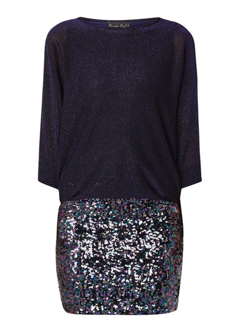 Phase Eight Geonna midi-jurk met lurex en pailletten paars