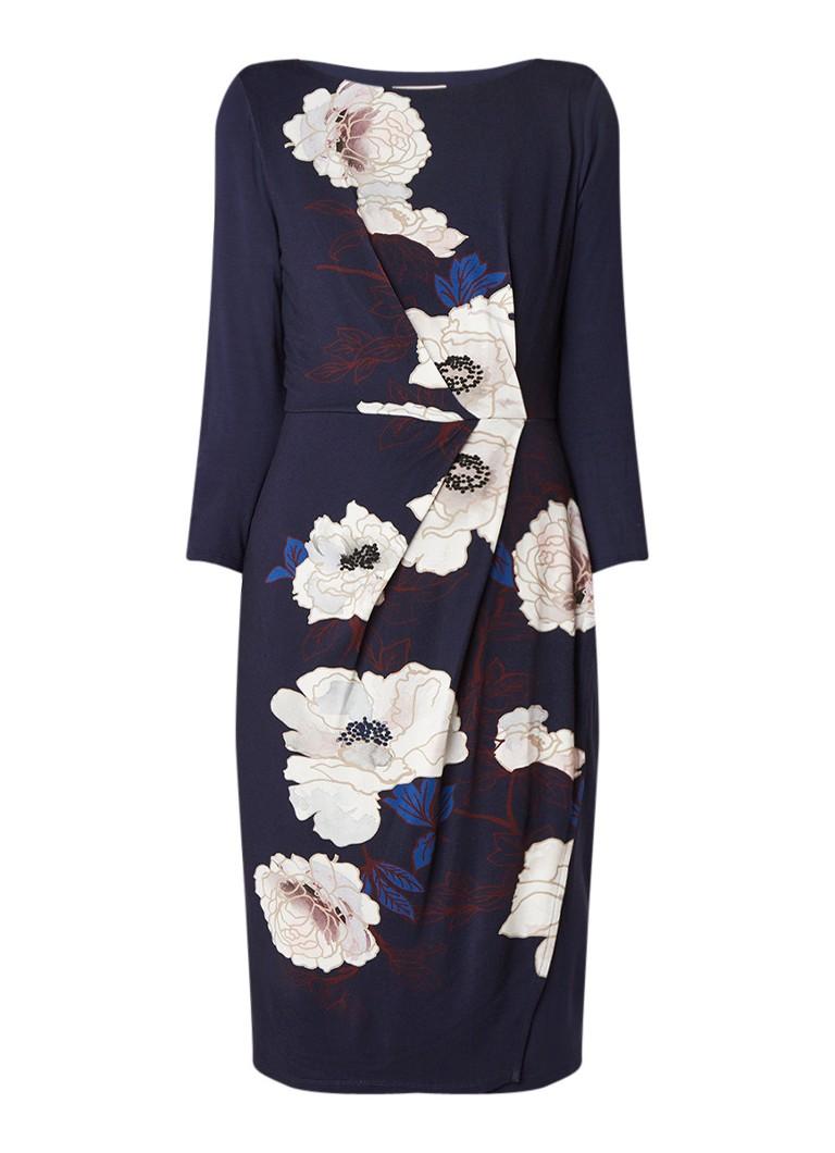 Phase Eight Laudine midi-jurk van jersey met bloemendessin donkerblauw