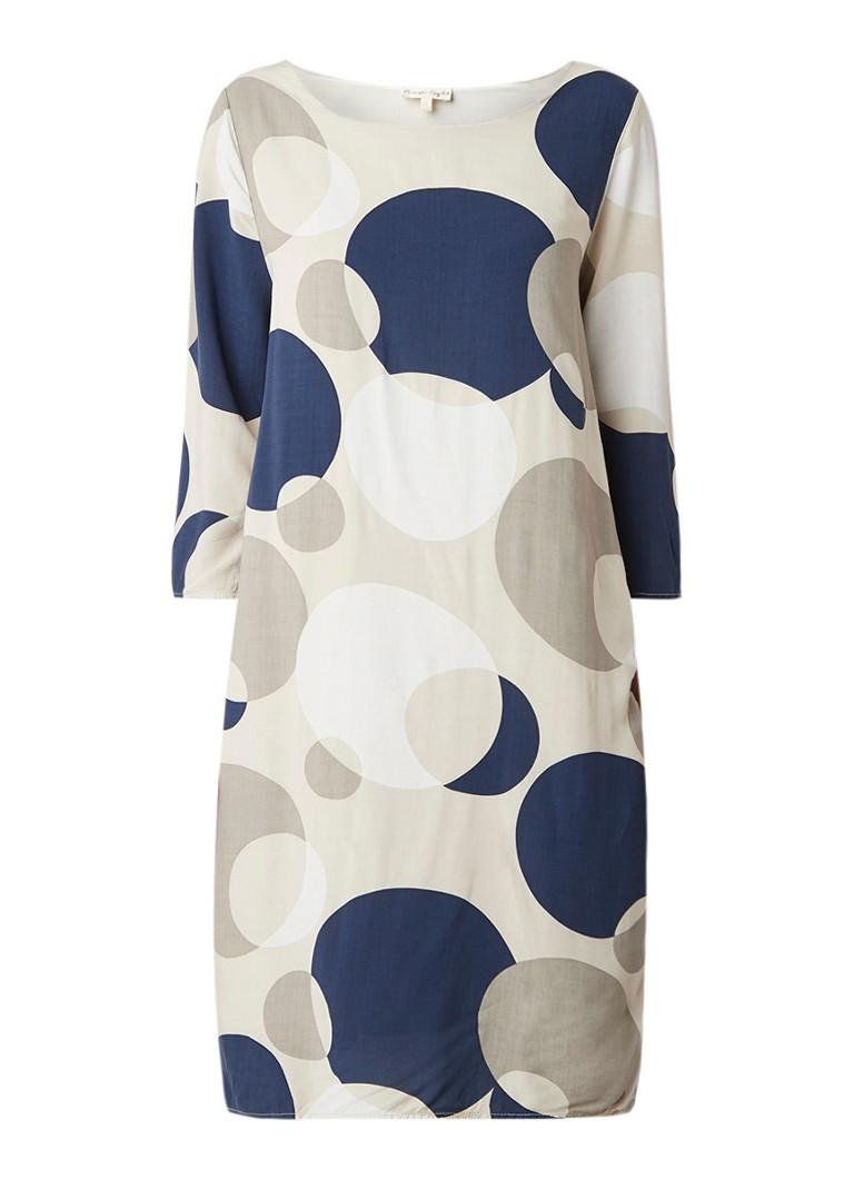 Phase Eight Diletta loose fit midi-jurk met stippendessin multicolor