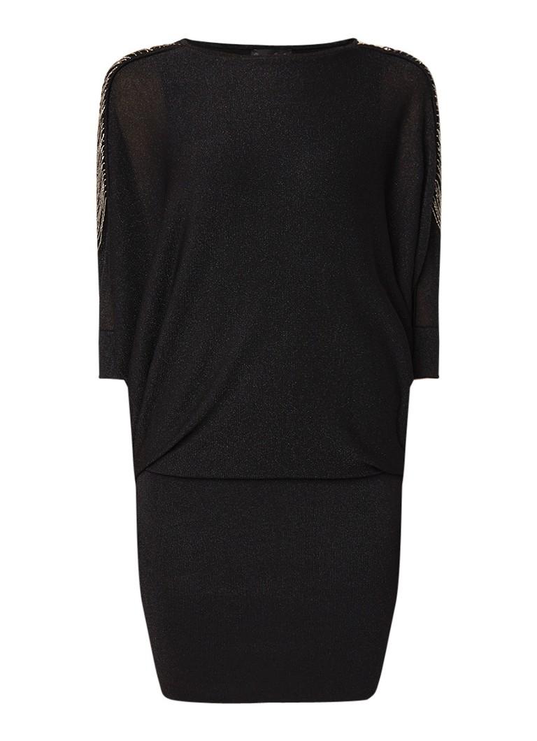 Phase Eight Donisha mini-jurk met lurex en strass-decoratie zwart