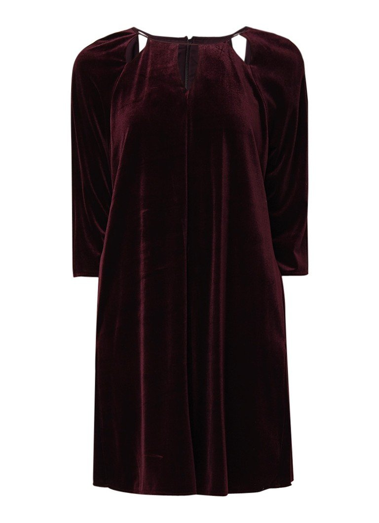 Phase Eight Zoe loose fit tuniekjurk van fluweel aubergine
