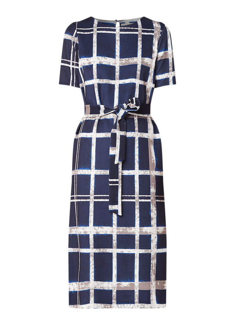 Phase Eight Cherelle jurk met strikceintuur donkerblauw