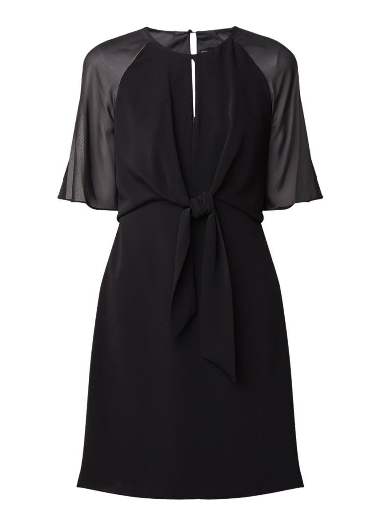 Phase Eight Lucia semi-transparante mini-jurk van chiffon met strikdetail zwart
