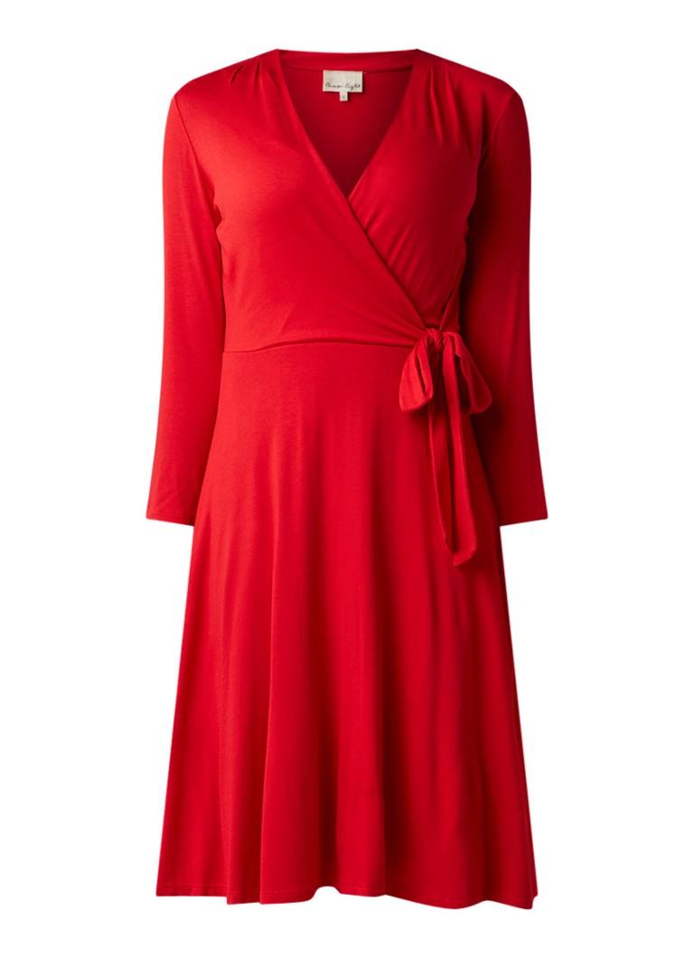 Phase Eight Wendelin wikkeljurk van jersey met strikdetail rood