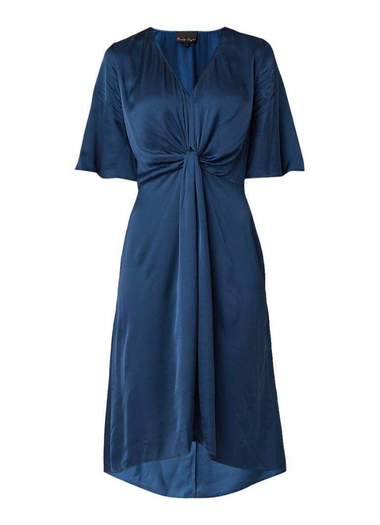Phase Eight Rosina midi A-lijn jurk met geknoopt detail blauw