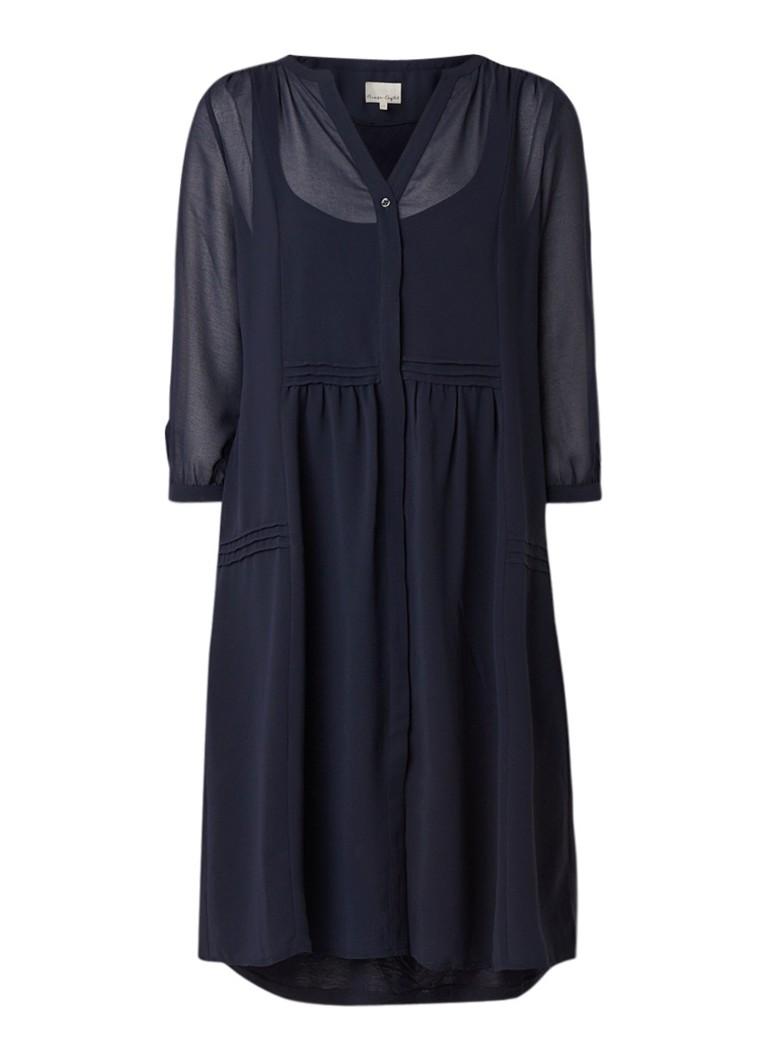 Phase Eight Remee blousejurk van chiffon donkerblauw