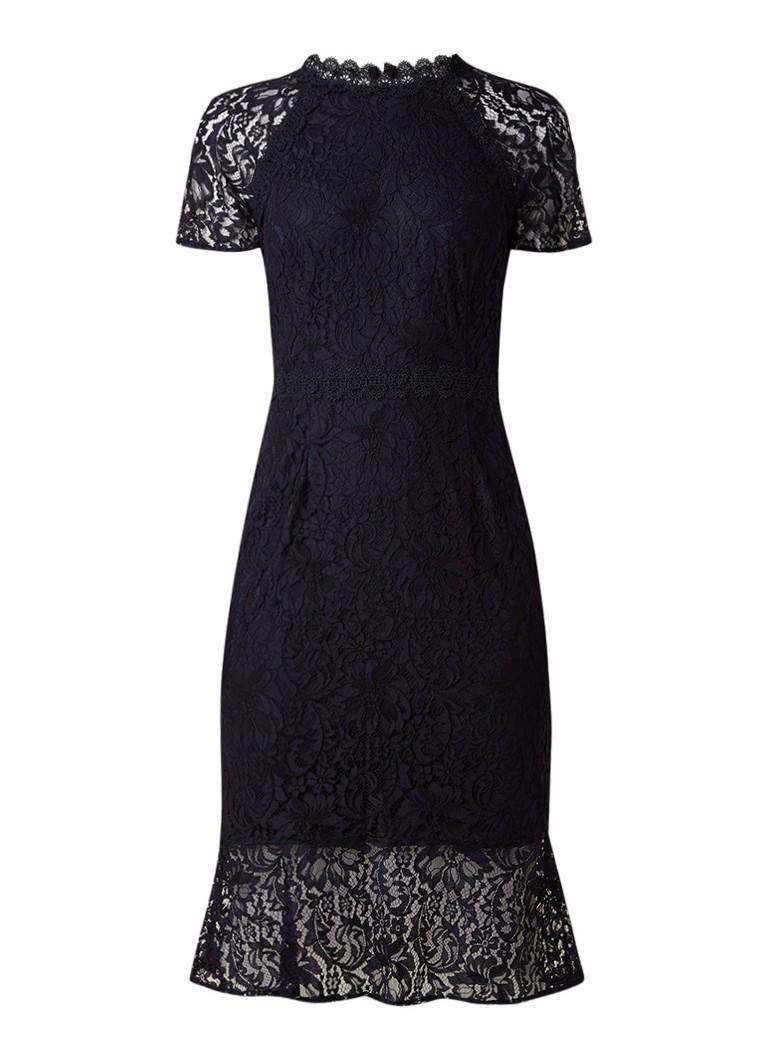 Phase Eight Mabel jurk van guipure kant donkerblauw