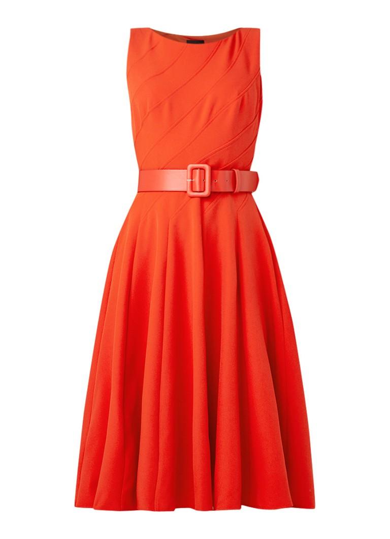 Phase Eight Shona A-lijn jurk met ceintuur oranjerood