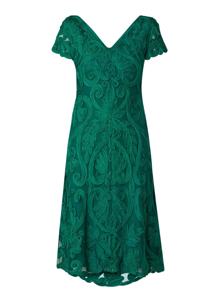 Phase Eight Kady A-lijn jurk met tapework groen