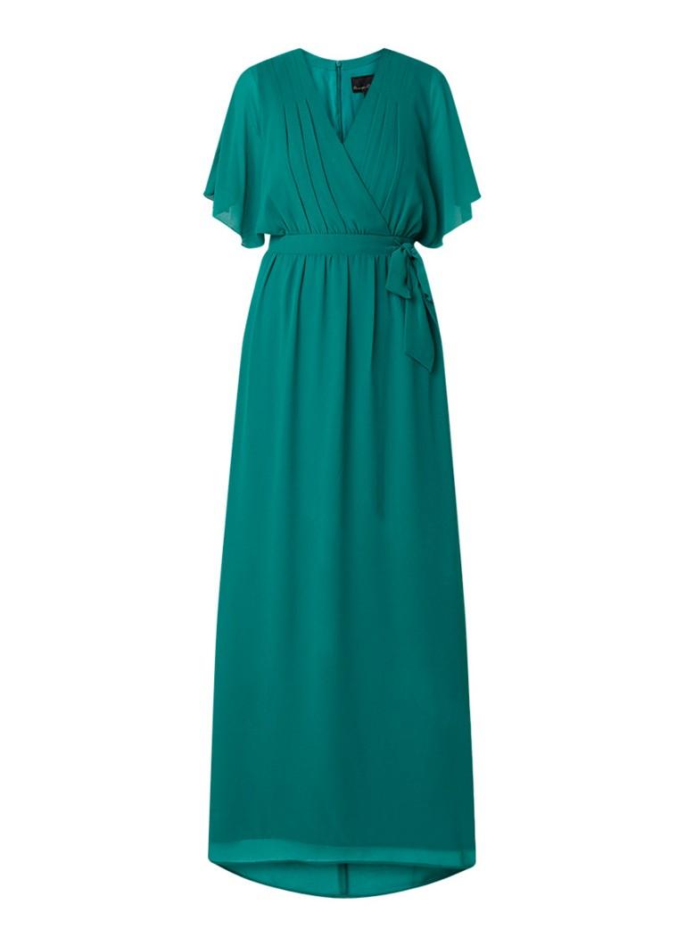 Phase Eight Hyria chiffon maxi-jurk met strikdetail groen