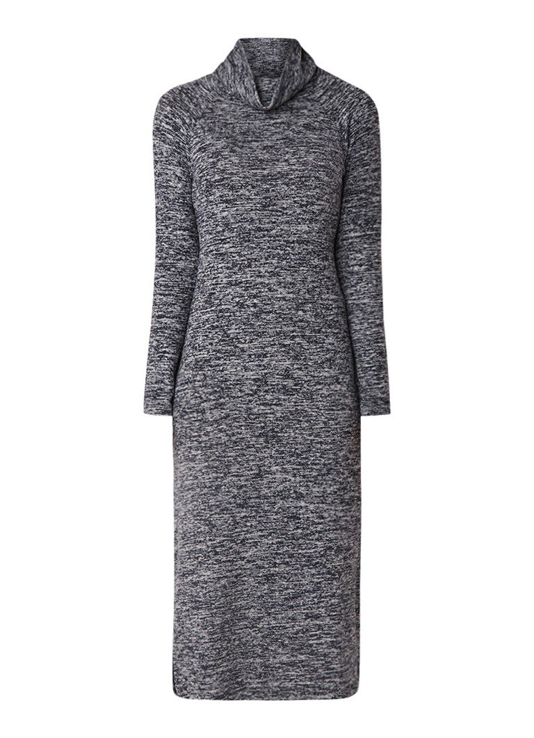 Phase Eight Sherry fijngebreide trui-jurk met col donkerblauw