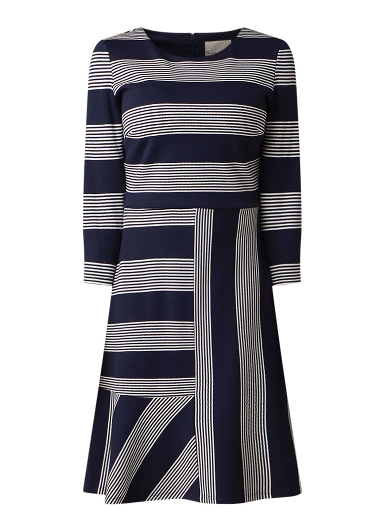 Phase Eight Storm A-lijn jurk van jersey met streepdessin donkerblauw