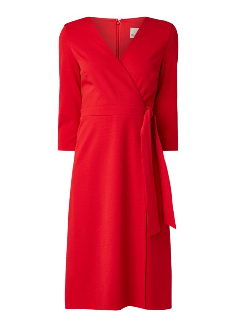 Phase Eight Theola midi-jurk van crêpe met strikceintuur rood