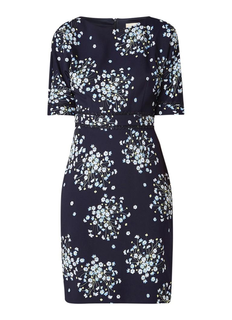 Phase Eight Madoline jurk van crêpe met bloemendessin donkerblauw