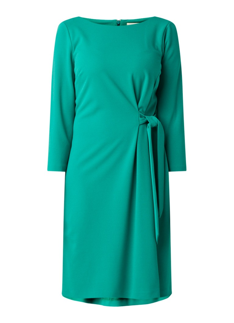Phase Eight Thelma midi-jurk van crêpe met strikdetail groen