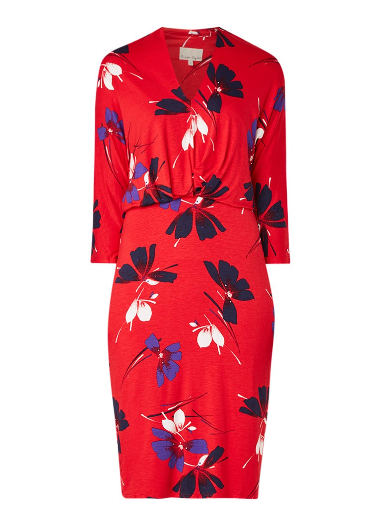 Phase Eight Harper jurk van jersey met bloemendessin rood