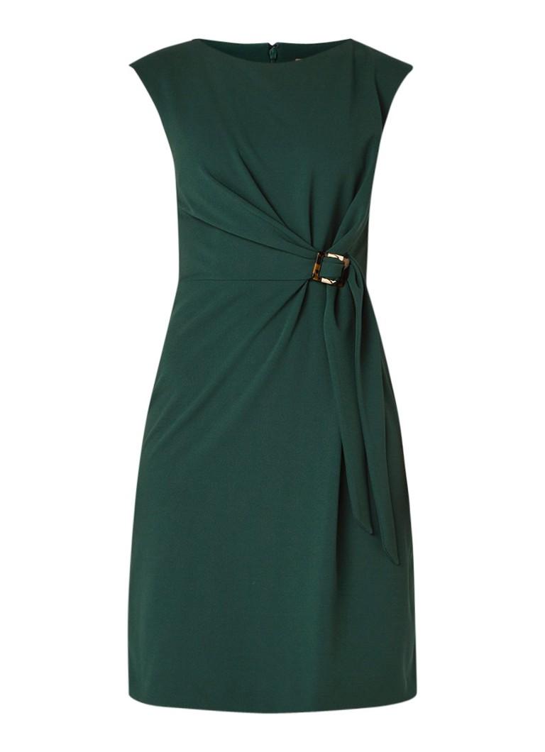 Phase Eight Mouwloze jurk van crêpe met ceintuur donkergroen